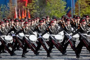 Москва, Мэр Москвы, Патриарх Кирилл, парад кадетов