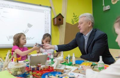 Сергей Собянин осмотрел экошколу в Кусково
