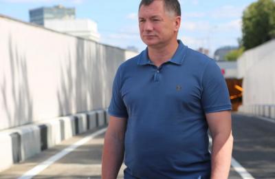 Марат Хуснуллин посетил Алабяно-Балтийский тоннель в Москве