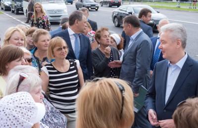 Москва, мэр Москвы, Сергей Собянин, открытие дороги, строительство, поселок Коммунарка