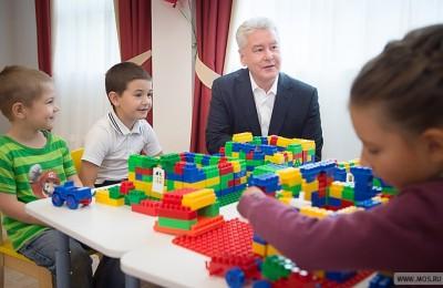 Сергей Собянин присутствовал на открытии новых детских садов на севере Москвы