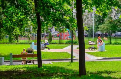 Парк в Донском районе у пруда Бекет
