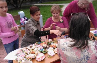 Жители района с удовольствием принимали участие в мастер-классе