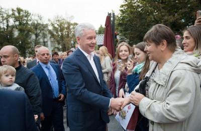 Мэр Москвы Сергей Собянин вчера побывал на одной из площадок фестивля