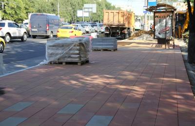 На Каширском шоссе обновили тротуары
