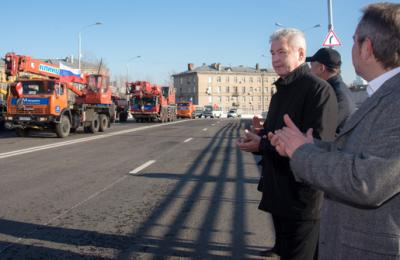 Сергей Собянин запустил движение по Звенигородскому путепроводу