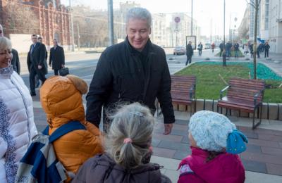 Сергей Собянин посетил Новослободскую и Долгоруковскую улицы