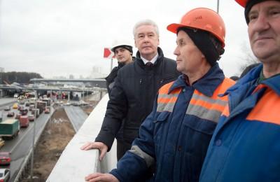 Сергей Собянин рассказал об открытии очередного дорожного объекта в столице