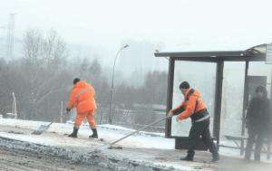 Транспортно-пересадочные узлы в ЮАО от снега коммунальщики убирают круглосуточно