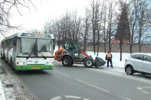 Один из автобусных маршрутов в ЮАО