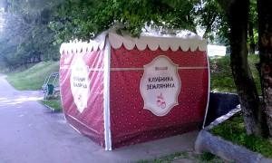 Одна из палаток по продаже клубники в ЮАО