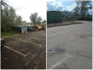 До и после проведения работ