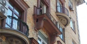 Аварийный балкон на Ленинском проспекте