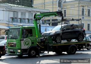 Работа эвакуатора в Москве