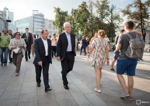 Сергей Собянин осмотрел Арбатскую площадь в Москве
