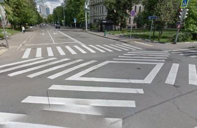 Диагональный пешеходный переход в Донском районе