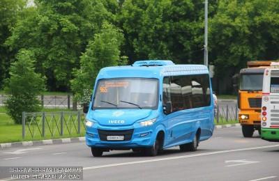 Автобус частного перевозчика в ЮАО