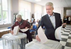 Мэр Москвы Сергей Собянин принял участие в выборах