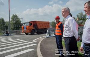 Сергей Собянин рассказал об открытии путепровода на северо-западе Москвы
