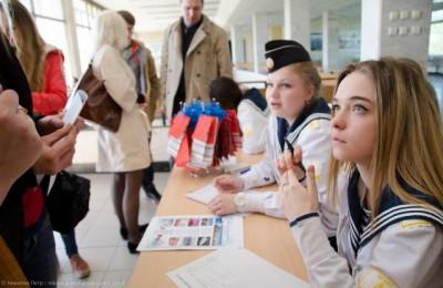 Студенты академии рассказали о своем вузе на «Ярмарке вакансий учебных мест».