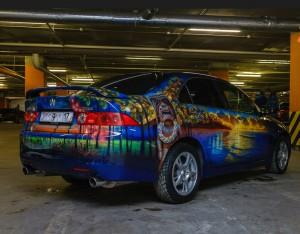 Один из автомобилей, участвовавших в выставке