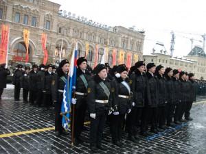 Студенты МГАВТ во время парада на Красной площади