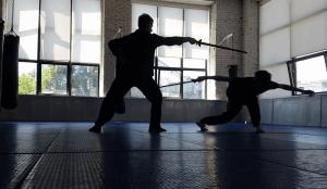 """Занятие по фехтованию в студии """"Sword art"""""""