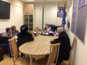 Фото с очередного приема главы МО Татьяны Кабановой