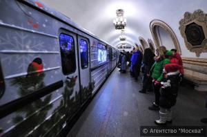 Новогоднее метро