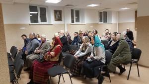 Гости на вечере памяти в Донском монастыре
