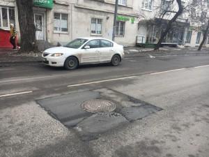 Отремонтированный асфальт на улице Орджоникидзе