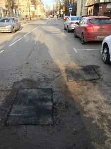 Отремонтированный участок дороги на Стасовой улице