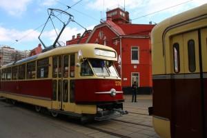 Парад ретро-трамваев в Москве
