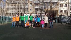 Участники турнира по стритболу