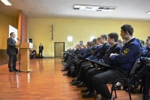 Президент ОСК Алексей Рахманов на выступлении в МГАВТ