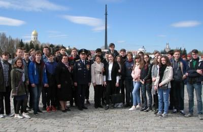 Учащиеся 9-х классов на мероприятиях на Поклонной горе