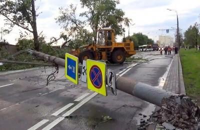 Последствия урагана в Москве 29 июня