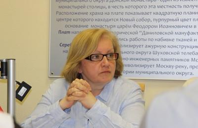 Председатель Совета ОПОП Екатерина Николаева на заседании Совета депутатов