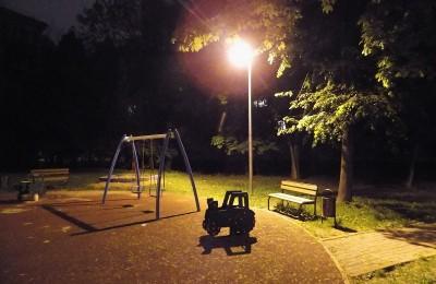 Восстановленное освещение в районе