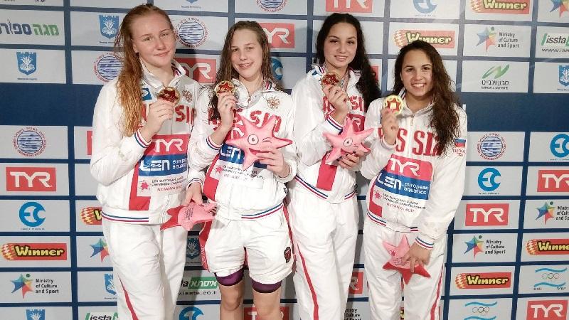 Русские спортсменки на Первенстве Европы по плаванию