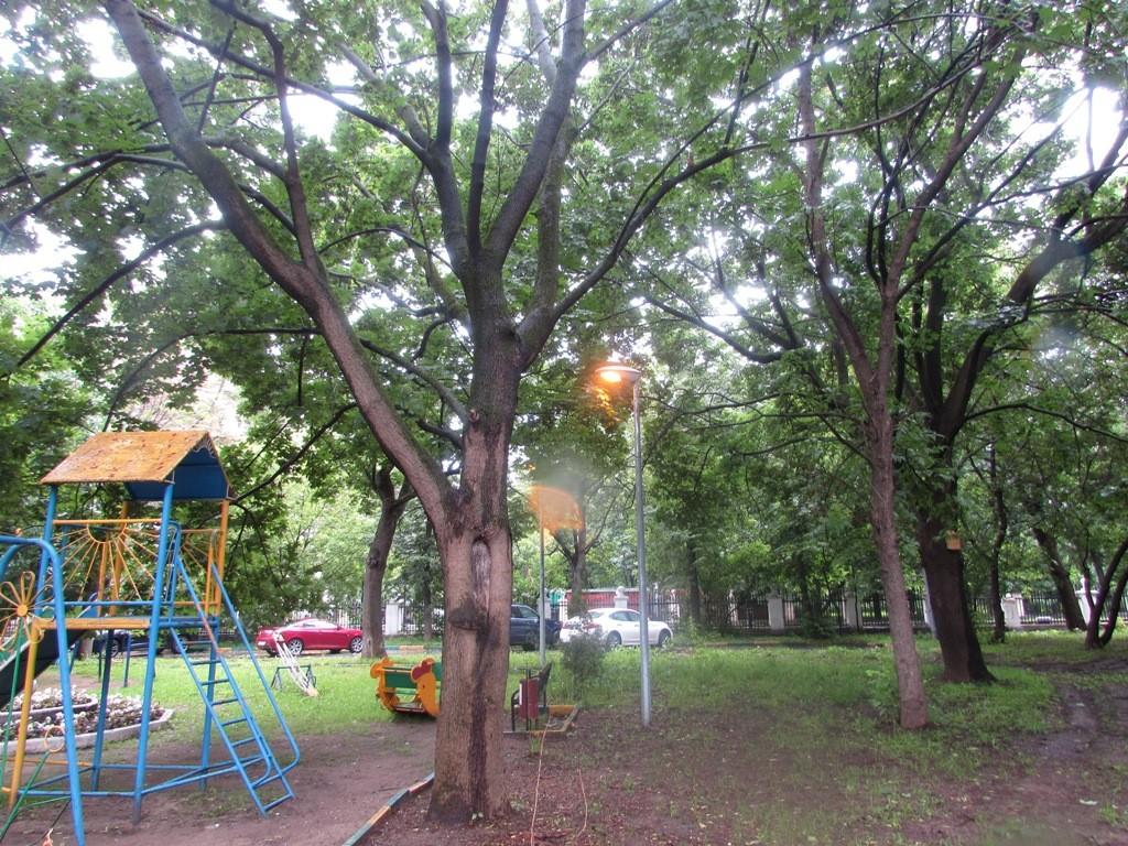 Убранная детская площадка