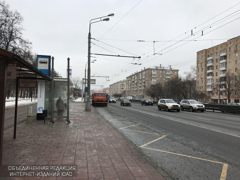 Автобусная остановка на Варшавском шоссе