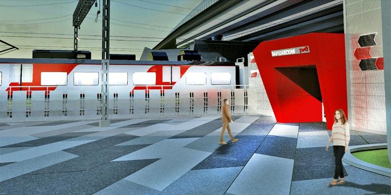Проектное решение станции «Варшавская»