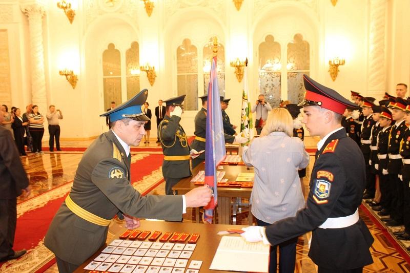 Кадеты Донского района приняли присягу в Кремле