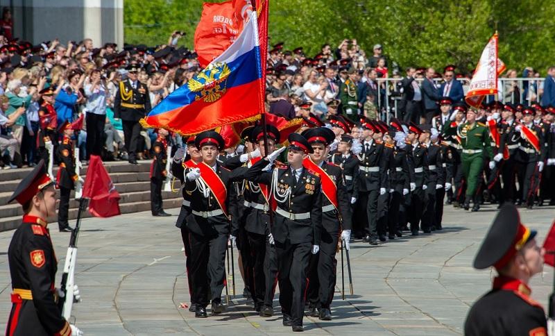 Кадеты Донского района приняли участие в параде на Поклонной горе