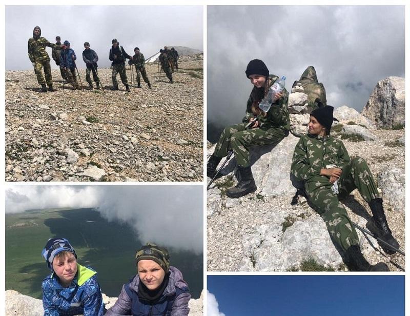 Кадеты Донского района покоряют горные перевалы