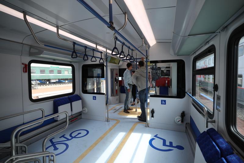 транспорт МЦД поезд