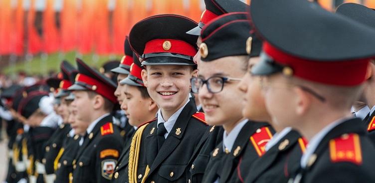 парад кадетов, митинг, Ольга Ярославская