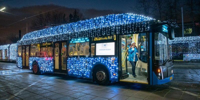 общественный транспорт, МЦК, Новый год