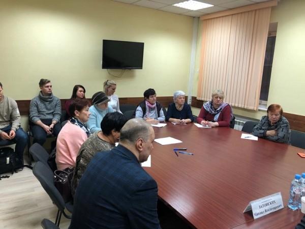 встреча с жителями, Давид Цабрия, Дмитрий Соколов, Михаил Затонский 2